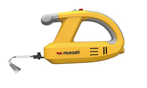 MUSASHI Rechargeable Weeding Vibrator WE-750 (Yellow)【Japan Domestic genuine products】【Ships from JAPAN】
