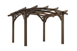 The Outdoor GreatRoom Company Sonoma MOCHA 12' x 12' Arched Wood Pergola