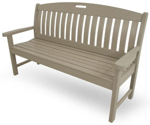 "POLYWOOD NB60SA Nautical 60"" Bench, Sand"