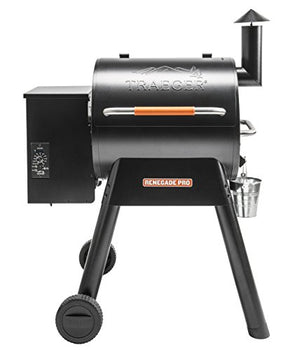 Traeger TFB38TOD Renegade Pro Wood Pellet Grill, Black and Orange