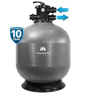 "Aquamoto EcoPixel 30"" Glass Media Pool Filter with 2"" Valve"