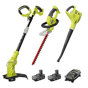 Ryobi P2015 ONE+ 18-Volt Lithium-ion Cordless Trimmer Blower Hedge Combo Kit ZRP2015 (Certified Refurbished)