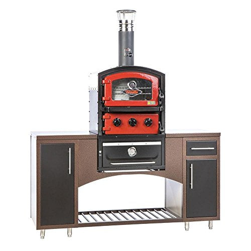 Fornetto Alto Series Built-In Wood Fired Oven Grill and Smoker