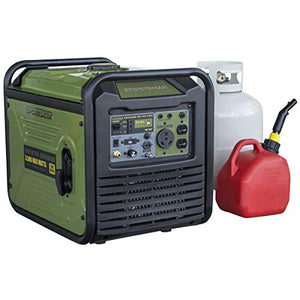 3,500-Watt Dual Fuel Inverter Generator for Sensitive Electronics