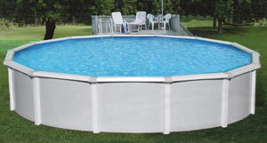 "Blue Wave NB1647 33' Round 52"" Samoan Steel Pool With 8"" Toprail in"
