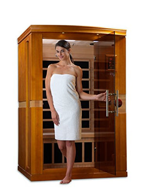 DYNAMIC SAUNAS AMZ-DYN-6210-01 Venice 2-Person Far Infrared Sauna