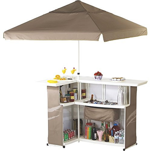 Best of Times Camouflage Portable Bar with Umbrella