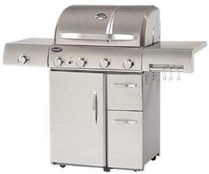 Aussie 6480 Stainless Steel 4-Burner Gas Grill with Side Burner