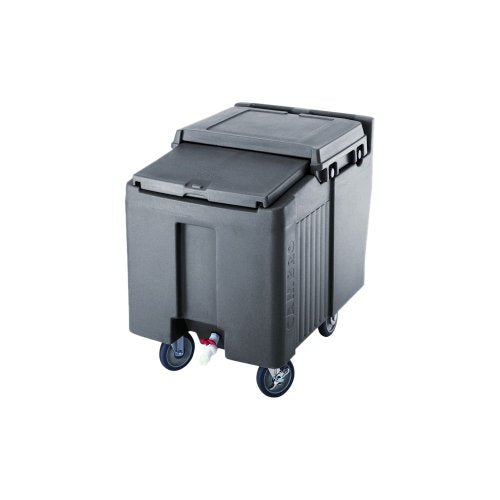 Cambro (2FX2SW1B) Sliding Lid Polyethylene Standard Height Ice Caddy, 29-1/4-Inch, Granite Gray