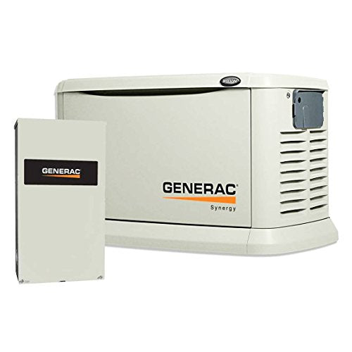 Generac 7041 Synergy 20kW/18kW Variable Speed Air Cooled Home Standby Generator with Whole House 200 Amp Transfer Switch (non-SE CUL)