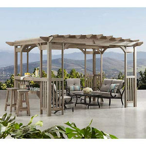 Members Mark Charleston 14' x 10' Pergola with Sunshade
