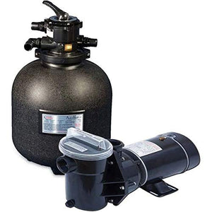 "Embassy 19"" High Performance Filter Combo - with 1 HP Pump and Sand Filter"