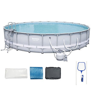 Bestway 56393e Power Steel Frame Pool Set, 24' x 52""
