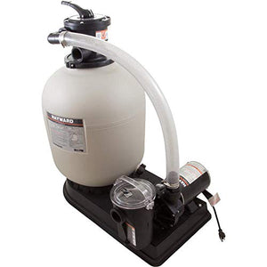 Hayward 1 Hp Sand Filter Syst W/Top Mt Vlv & 1-1/2 Hoses