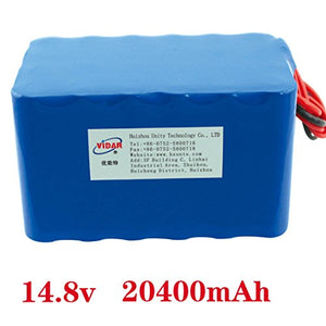 14.8v 19200mah rechargeable li-ion polymer battery pack supplier in china for power source