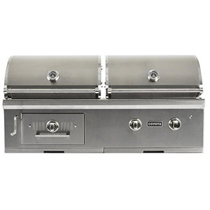Coyote Centaur 50-inch Built-in Propane Gas/Charcoal Dual Fuel Grill - C1hy50lp