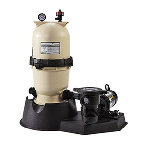 Pentair PNEC0060OE1160 EasyClean Aboveground Cartridge Pool and Spa D.E. Filter System, 1 HP