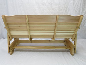 5' Natural Cedar Porch Glider, Amish Crafted