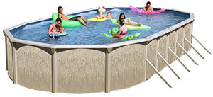 Galveston GA331852 Above Ground Pool Package, Large, Dune