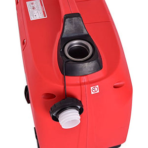 Eight24hours Portable 1250W Digital Inverter Generator 4 Stroke 53cc Single Cylinder Red