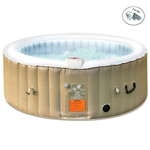 Eight24hours Portable Inflatable Bubble Massage Spa Hot Tub 4 Person Relaxing Outdoor