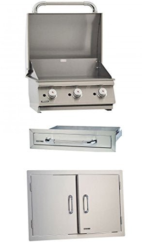 Bull 3 Burner Natural Gas Barbecue Grill Griddle & Accessory Package