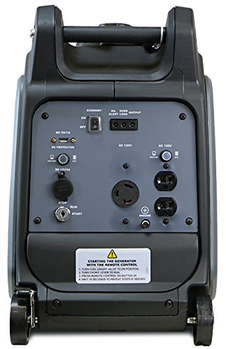 Dirty Hand Tools 104612 3200W Inverter Generator - Gas Powered, 120V Outlets x2, USB x1, DC x1
