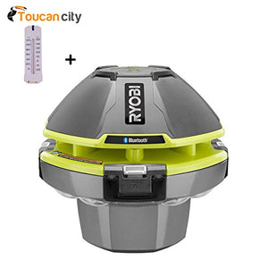 Toucan City RYOBI 18-Volt ONE+ Floating Speaker/Light Show with Bluetooth P3520 and Pool Thermometer
