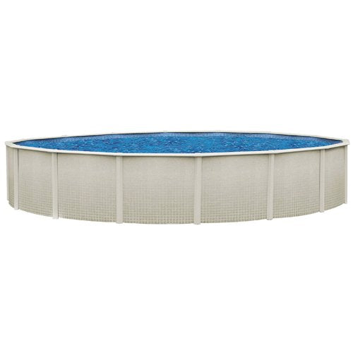 "Sharkline Reprieve 21' x 52"" Wall Round Above Ground Metal Frame Swimming Pool"