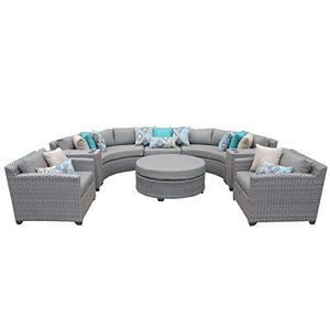 TK Classics FLORENCE-08e 8 Piece Outdoor Wicker Patio Furniture Set