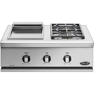 DCS Liberty Built-In Dual Side Burner and Griddle (71128) (BFGC-30BGD-L), 30-Inch, Propane Gas