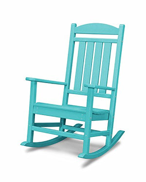 POLYWOOD R100AR Presidential Outdoor Rocking Chair, Aruba
