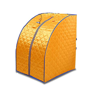 Wanforjewellery Folding Far Infrared Sauna Room, Portable Bath Steaming Room Full Body Fumigation Tent Sauna 36 Large Granule Tourmaline,Yellow