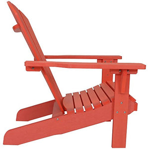 Sunnydaze All-Weather Adirondack Chair Set of 2, Faux Wood Design, Salmon