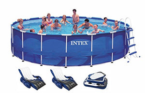 "Intex 18' x 48"" Metal Frame Swimming Pool Deluxe Set w/ 1500 GFCI Pump 