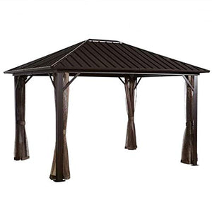 Sojag 500-8162585 Dakota Sun Shelter, 10' x 10', Dark Brown