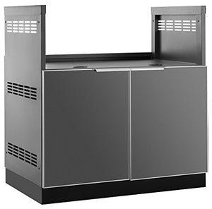 "New Age Products 65204 Outdoor Kitchen 33"" Insert Grill in Aluminum Outdoor Kitchen Cabinet, Slate Gray"