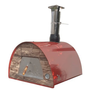 Authentic Pizza Ovens Maximus Red Wood Fire Oven