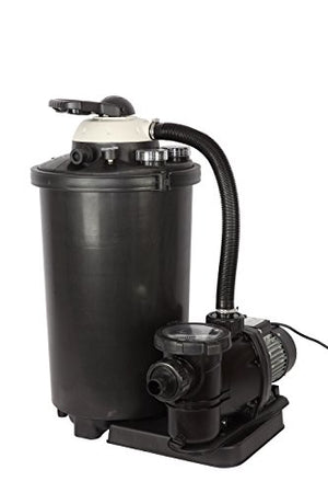 FlowXtreme NE4488 16-in, 75lb Sand Filter System for above Ground Pools, 2640 GPH/0.75HP, Black