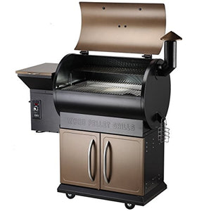 Z GRILLS 2018 Upgrade Deluxe Wood Fired Pellet Outdoor 8 in 1 BBQ Smokers/Elite Wood Pellet Grill with Storage Cabinet, Free Storage Patio Cover Included, Bronze(700D)