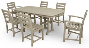 Trex Outdoor Furniture TXS118-1-SC Monterey Bay 7-Piece Dining Set, Sand Castle