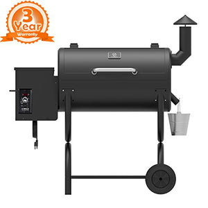 Z Grills ZPG-550B Wood Pellet Grill Smoker 7 in 1 Bbq Auto Temperature Control, 550 sq Inch, 550 Black