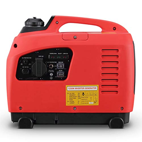 Light Weight and Ultra Compact Safely Power Supply On The Job Site 1250 Watts Portable Gasoline Inverter Generator 4 Stroke Gas Powered EPA CARB