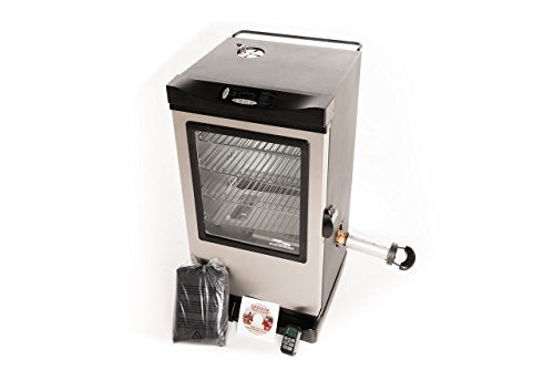 Masterbuilt 20077615 Digital Electric Smoker with Window and Bonus Pack, 30""