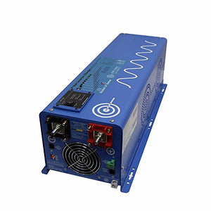 Aims 6000 Watt Low Frequency Pure Sine Inverter Charger 24 VDC to 120 VAC