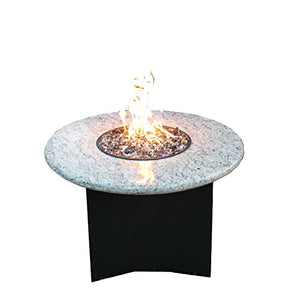 "Oriflamme Mini 32"" Granite Propane Fire Pit Table"