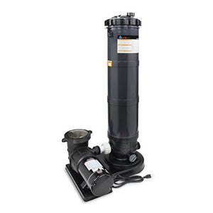 Above Ground Pool Cartridge Filter System 120 Sq. Ft W/1.5 HP Pump