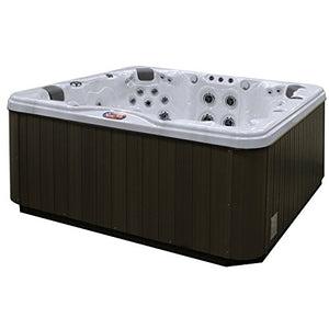 American Spas AM-756LS 6-Person 56-Jet Lounger Spa with Bluetooth Stereo System, LED Streamer Waterfall, Ozone Sanitization