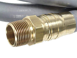 "1"" ID Natural Gas Hose Connector w/ 1"" MPT Swivel End Fittings (30 Feet)"