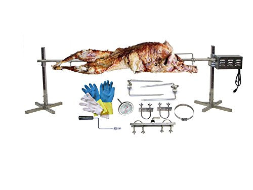 SpitJack BBQ Rotisserie Stainless Steel, Pig Rotisserie, Hog, Lamb CXB75